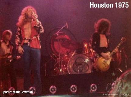 Led Zeppelin – Houston – US Tour 1975 – MARK BOWMAN IMAGES