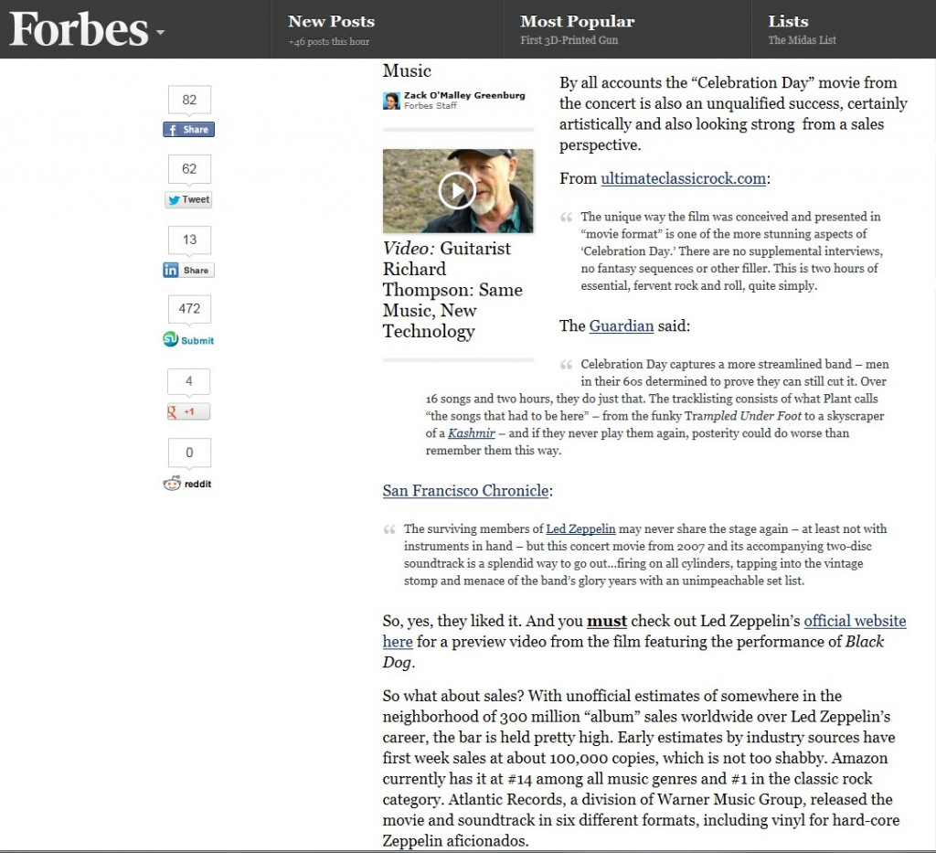 Forbes Magazine Quote 2012
